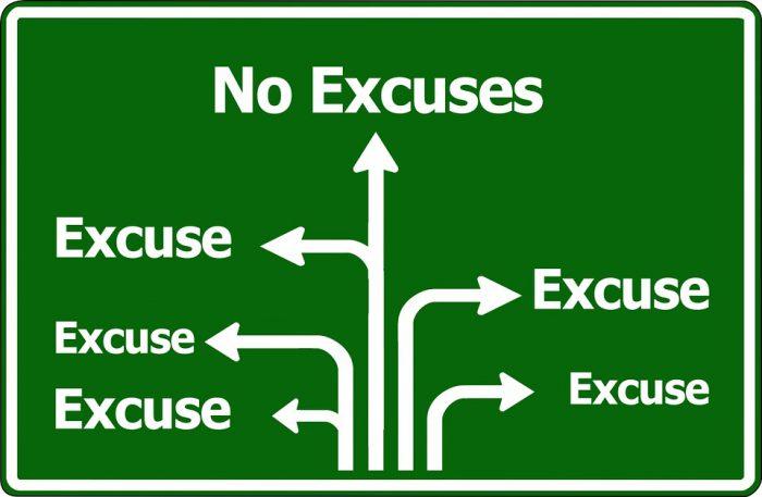 Door een goede balans ruim je je excuses op